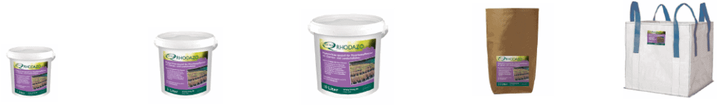 INOQ mycorrhizal products packaging sizes